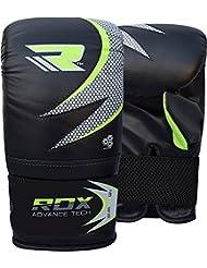 RDX Gel Pro Guantes Mitones Bolsa de Boxeo Grappling MMA UFC Muay Thai Entrenamiento del Sacador