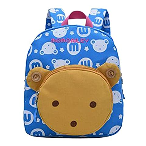 Sac à dos en forme de lapin 3D mignon, sac d'école Hibote Loverly Bear Toddler Girls Sky Blue Bear