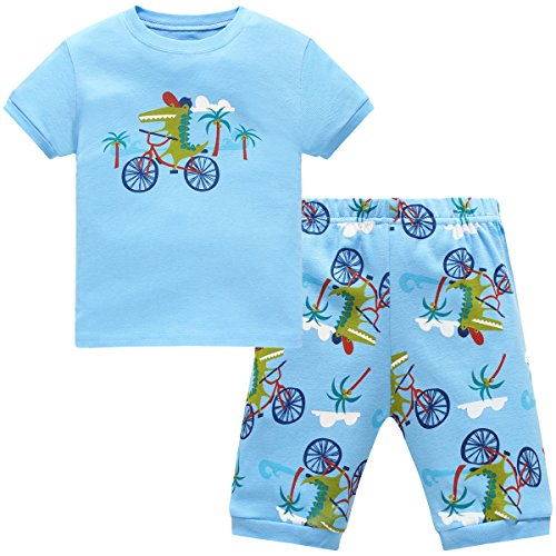 Hugbug Jungen Schlafanzug Kurz mit Krokodil 2 Jahre (Schlafanzug Jungen Kleinkind)
