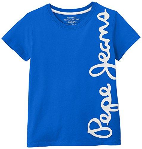 Pepe Jeans Jungen T-Shirt Waldo Short, Blau (French Blue), 16 Jahre (Herstellergröße: 16) (Jeans-jungen-shirt)