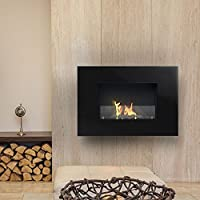 Imagin ARLINFTON-BLACK Wall Mounted Bio-Ethanol fireplace - Black