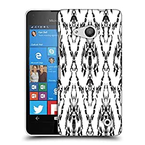 Snoogg Floral Grey Pattern Designer Protective Phone Back Case Cover For Microsoft Lumia 550