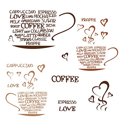 Eurographics coffee addicted 25x35 adesivo da parete, carta, bunt, 35 x 25 x 0.4 cm