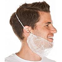 Bartschutz aus PP-Vlies, extra groß, luftdurchlässig, mit latexfreiem Gummizug, Farbe:weiß, Größe:50 x 30 cm preisvergleich bei billige-tabletten.eu