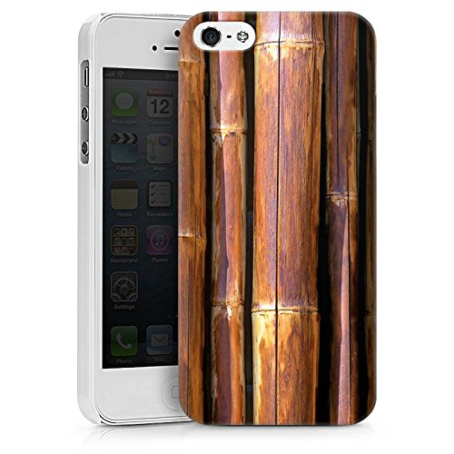 Apple iPhone X Silikon Hülle Case Schutzhülle Bambus Bambusrohr Braun Hard Case weiß