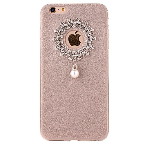 "iPhone 5s Handyhülle, iPhone SE Tasche, CLTPY Elegante Sparkly Series Slim Fit Silikon Cover, Kreativ Bling Diamant Bowknot Design Abdeckung für 4.0"" Apple iPhone 5/5s/SE + 1 x Stift - Grün 1 Gold 2"
