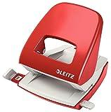 Leitz Locher, 30 Blatt, Rot, Anschlagschiene mit Formatvorgaben, Metall, NeXXt, 50080025