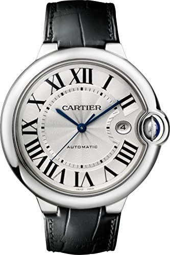 CARTIER MEN'S BALLON BLEU DE CARTIER LEATHER BAND AUTOMATIC WATCH W69016Z4