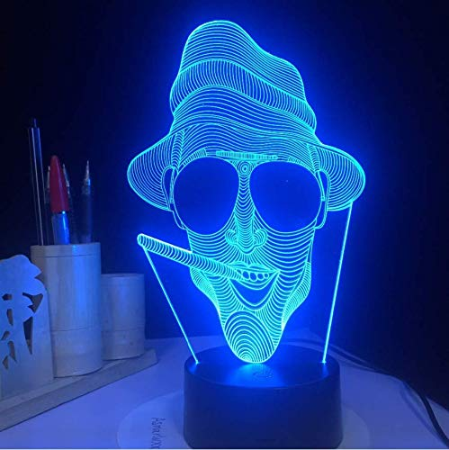 Neuheit 3D Cool Smoking Man Form Tischlampe LED Nachtlichter als Urlaub Zimmer Dekoration & Geschenke Geburtstag Jubiläumsgeschenk -