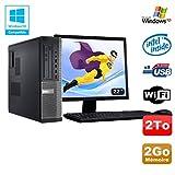 Pack PC DELL Optiplex 3010 DT G640 2.8 GHz 2Go 2000Go DVD WIFI Win XP + Bildschirm 22 (Generalüberholt Zulässig)