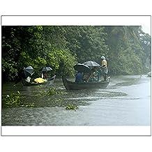 Robert Harding 10x8 Print of Life during the monsoon rains, Kerala, India (3615033)