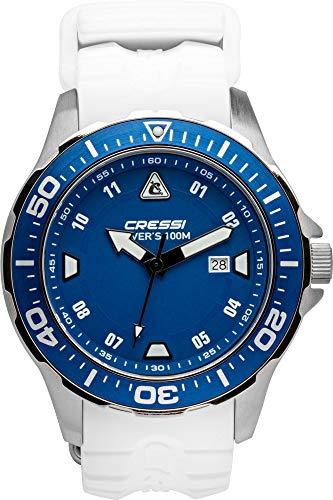 Cressi Manta Watch Reloj Submarino, Adultos Unisex, Azul/Blanco, Talla Única