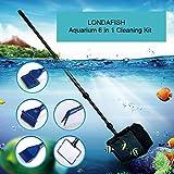 LONDAFISH Outils de Nettoyage pour kit de Nettoyage d'aquarium pour réservoir de Poisson Kit de Nettoyage de réservoir en Verre 6-en-1