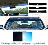 MACX5ST2T Frontblendstreifen, Sonnenschutzstreifen Windschutzscheibe – passgenau – fahrzeugspezifisch – inkl. Spiegelfußaussparung