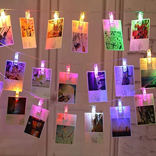 G-Hawk LED-Fotokette für Fotozelle, 20 Fotos 2.2 M, Lichterkette für Fotos, angetrieben von USB, zum Aufhängen von Erinnerungsbildern oder zur Wandmontage.