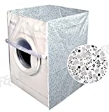 #3: F&A Washing Machine Cover Front Load 6 KG to 7.5 KG with High Quality Zip Small Floral Printed Durable, Water Proof, Dust Proof with Designated Openings for Inlet and Outlet Pipes and Power Cords.