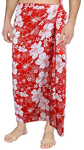 La-Leela-achwear-traje-de-bao-de-la-ropa-de-noche-de-la-vendimia-likre-envolver-pareo-pareo-rojo-aloha