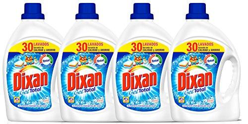 Dixan Detergente Gel Total Botella Pack de 4 x 30 lavados