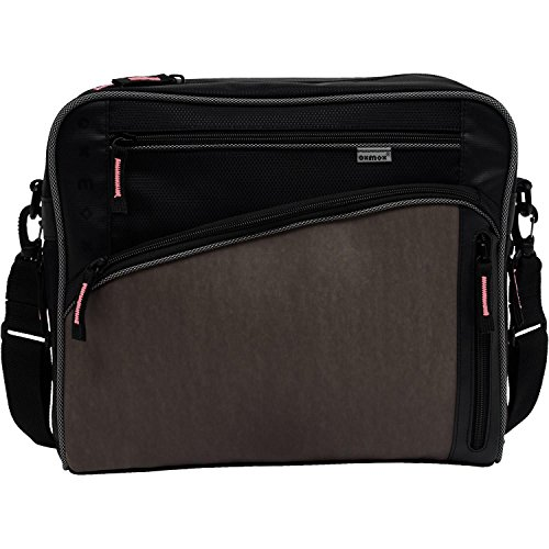 oxmox Touch-It Street Bag M Rosa Dunkelgrau (kalt), Pink (warm)