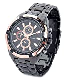 Felizer Curren Golden Dial Black Watch