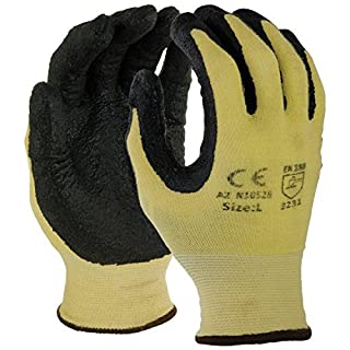 Azusa N10528 XS Fiber Seamless Knit Safety Gloves , X-Small, Yellow/Black by Azusa Safety