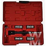 Nuevo Reino Unido 5 piezas Diesel Inyector sellado / seat de corte del conjunto para CDi motores juego de herramientas
