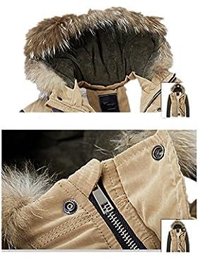 MHGAO Capa de la chaqueta con capucha del invierno de los hombres de Down , khaki , xxl