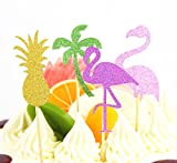 SUNBEAUTY Sommer Party Dekoration Kit Flamingo Ananas Hawaii Tropische Deko - 5