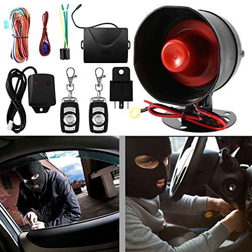 Qii lu 12 V Universal Auto Anti-Diebstahl Alarmanlage Hupe und Licht Stoßsensor Alarm Safe Lock mit Fernbedienung Schlüssel Build Protection