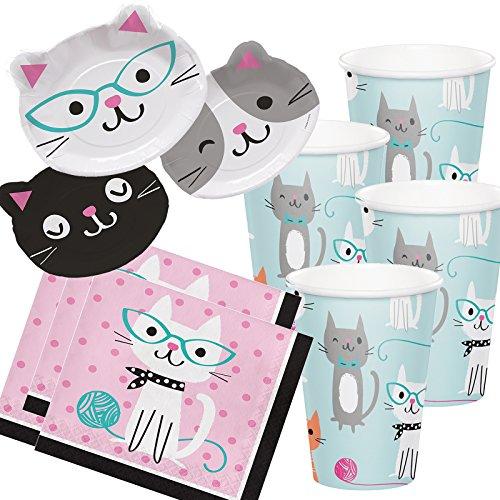 33tlg Party-Set Purr-Fect Katzen für 8 Personen