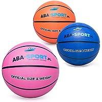 ABA Sport Basketball Ball Indoor und Outdoor | NBA Training | Basketbälle für Kidner und Erwachsenen | Größe 5 | Bälle | Farbenauswahl : Rosa Orange Blau