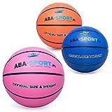 Ballon de basket ABA Sport pour le jeu en extérieur, taille universelle 5, rose
