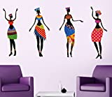 Life Stickers African Dancing Girls Wall sticker 5019(Covering Area :100 cm X 50 cm)