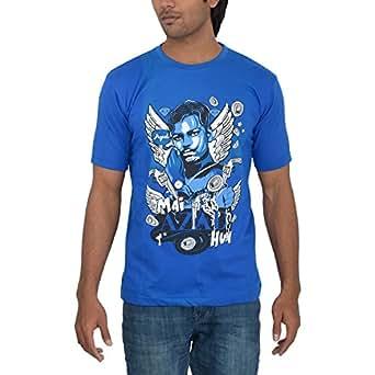 Takila Men's Cotton Navy Blue Round Neck T-Shirt