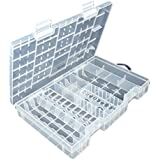 Tinksky AA AAA C D 9V Hard Plastic Battery Case Holder Storage Box (Clear)
