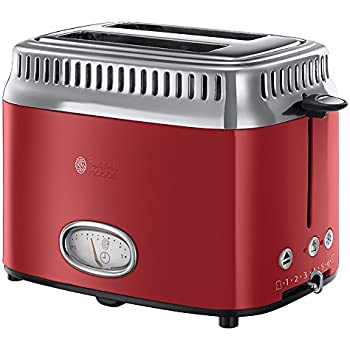 Russell hobbs 21680 56 retro collection tostapane rosso for Tostapane russell hobbs