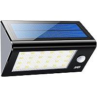 WZTO Solarleuchten Au/ßen 66 LED IP65 Wasserdicht Solarlampe mit Bewegungssensor Superhelles Hitzebest/ändig 3 Modi Sicherheitswandleuchte Wandleuchte f/ür Garten T/üre Flur Wege Patio Zaun 2 St/ück