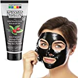 Organix Mantra Activated Charcoal Peel Off Mask 120ml with Deep Pore Cleanse for Acne, Oil Control and Anti-Aging Wrinkle Reduction with Bentonite Clay, Rosehip Oil