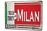 Calendrier perpétuel Voyage Cuisine Milan Italie métal
