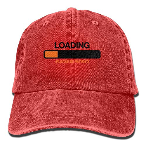 01963e8e95b33 Unisex Loading Please Be Patient Denim Jeanet Baseball Cap Adjustable  Sunbonnet For Men Or Women