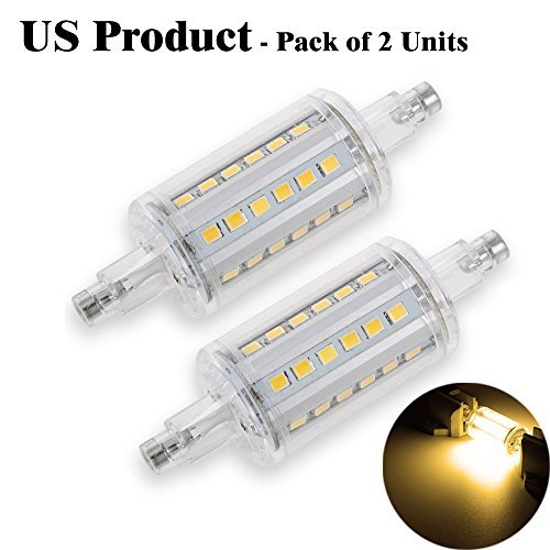 YouOKLight R7S 78MM 5W LED Birnen 108-SMD 3014 LEDs Warmes Weißes Licht LED Lichtquelle Outdoor Flutlicht (AC 220-230V, 2 Stück) (108 Led-licht)
