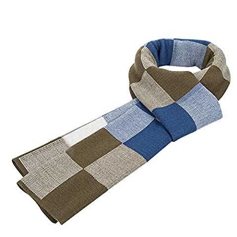 Eizur Men Fashion Scarf Scottish Plaid Soft Cashmere Feel Scarves