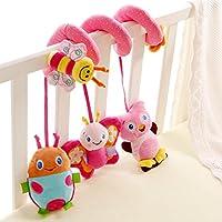 Happy Cherry Baby Toys musica letto campana ciondolo sonagli letto passeggino Viaggi Toys Baby sonagli ragazza peluche Cavallino Toy–rosa rosso