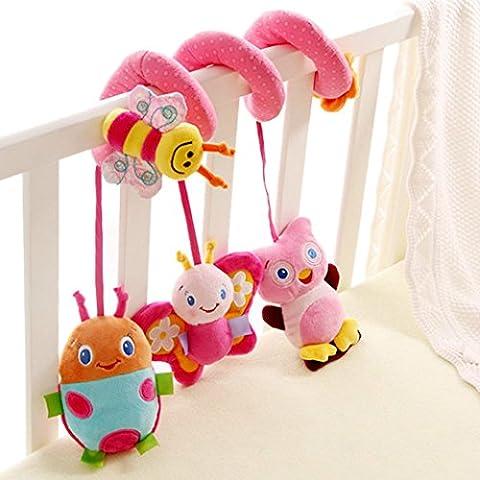 Happy Cherry Espiral de Actividades Sonajero Musical con Sonidos Música Colgante Multicolor Insectos para Bebés Recién Nacidos Niños Carrito Cochecito
