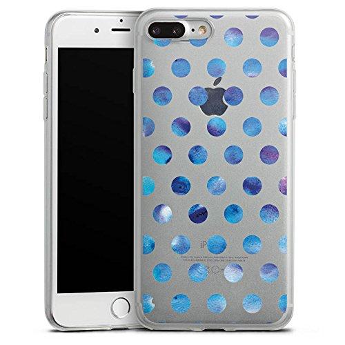 Apple iPhone 8 Slim Case Silikon Hülle Schutzhülle Transparent mit Muster Polka Dots Punkte Silikon Slim Case transparent