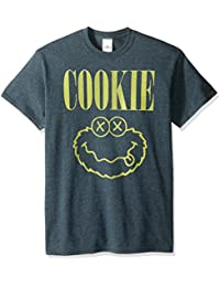 Sesame Street Men's Monster Cookie Nirvana T-Shirt