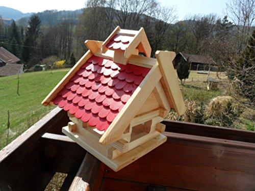 arbrikadrex-futtersilo-futterhaus-schreinerware-holz-vogelfutter-vogelhaus-vogelvilla-vogel-blockhaus-futterspeicher-xl-rot-oder-schwarz-xl-rot-auch-zum-aufhaengen-balkon-3