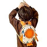 Rucksack,Cute KleinkindRucksack Universum Kindertasche Jungen Kindergartentasche Mädchen Kinderrucksack Stoff Rucksack Baby Schulrucksack (Blau)-Orange