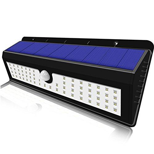 GXZOCK Solarleuchten Outdoor 54 LED Super Helle Weitwinkel Solarbetriebene Bewegungssensor Drahtlose Sicherheit Wasserdichte Wandleuchte
