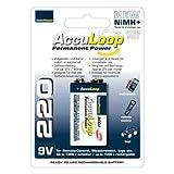 AccuPower AL220 Akku (220mAh, 9 Volt) mit geringer Selbstentladung
